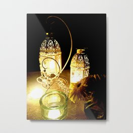 Candlelight dinner Metal Print