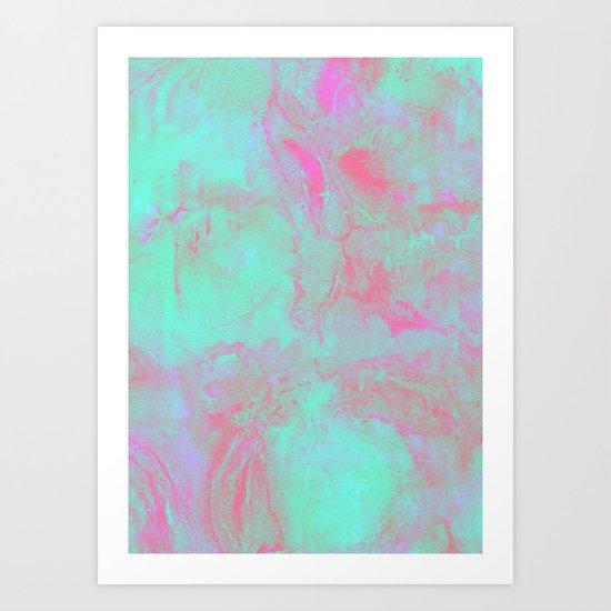 Teal Pink Art Print