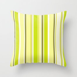 Seventies Retro Chic Lime Green Ombre Stripes Throw Pillow
