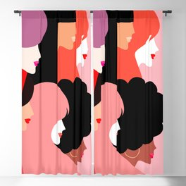 Girl Power we persist  #girlpower Blackout Curtain