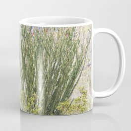 Spring in the Desert with Octotillo by Reay of Light Photography Coffee Mug