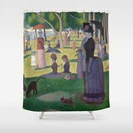 Georges Seurat - A Sunday Afternoon on the Island of La Grande Jatte Shower Curtain