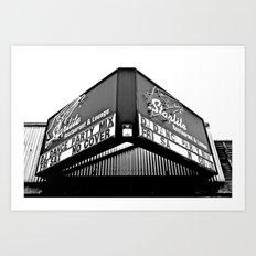 Classic restaurant marquee Art Print