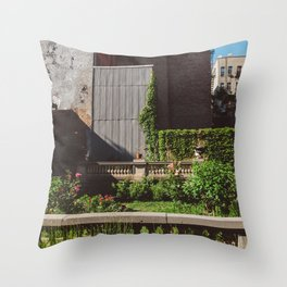 Elizabeth Street Garden Throw Pillow