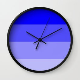 Dark Blue Ombre Coloured Wall Clock