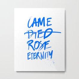 #JESUS2019 - Came Died Rose Eternity (blue) Metal Print