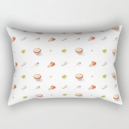 Icing Cookie Pattern_Bright Rectangular Pillow