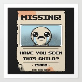 Missing Poster Art Print