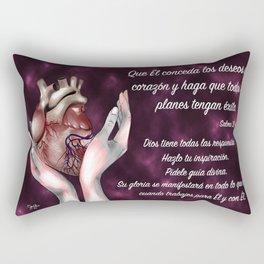 Manos en corazón - Salmo 20, 4 Rectangular Pillow