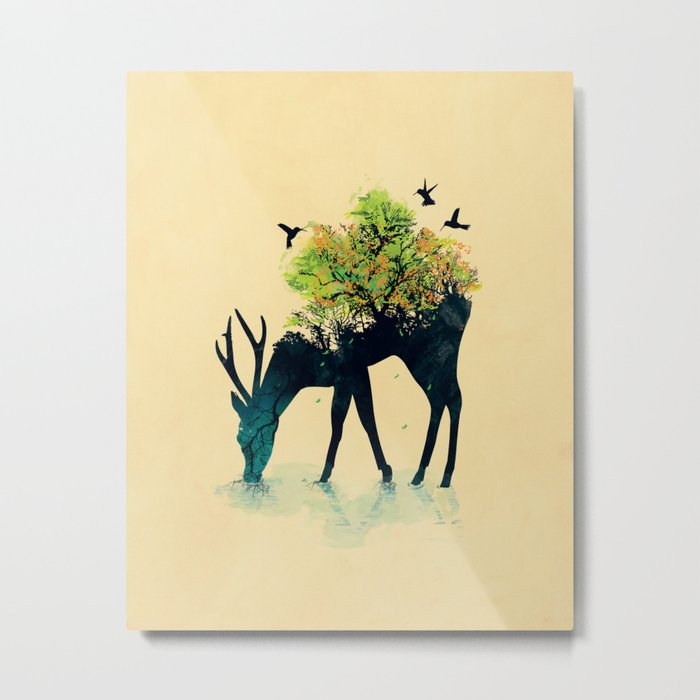 Watering (A Life Into Itself) Metal Print