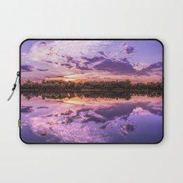 Purple Sunset Landscape Laptop Sleeve
