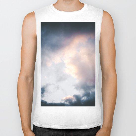 Creamy Clouds Biker Tank