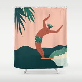Go with a flow Shower Curtain