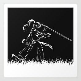 Samurai Kenshin Himura Art Print