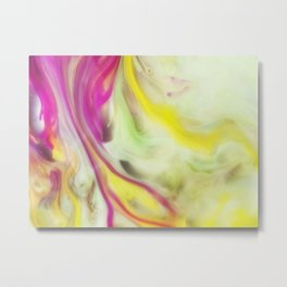 Magnolia Watercolor Abstraction Painting Metal Print