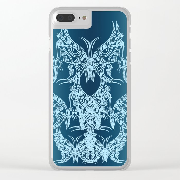 Indian Butterfly Enblem Clear iPhone Case
