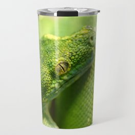 Green snake Travel Mug