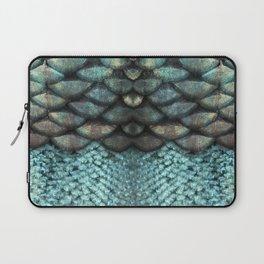 Mermaid Scales Dreamy Sea Blue Laptop Sleeve