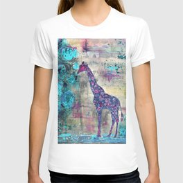 Majestic Series: Giraffe having a berry T-shirt