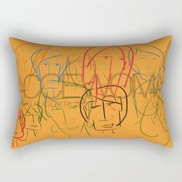 Facce Woman Rectangular Pillow