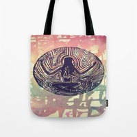 psych Tote Bags featuring Psych Trap by ArtAngel