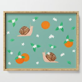 Snails and Oranges Serving Tray