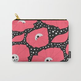 Poppies and dots Carry-All Pouch