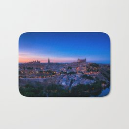 Panoramic view of the medieval center of the city of Toledo, Spain. Bath Mat
