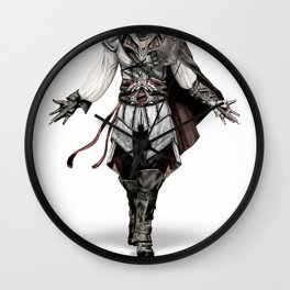 Ezio Auditore from Assassin's Creed - Color Sketch Work Wall Clock