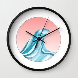Blue Wave Off The Coast 1 Wall Clock