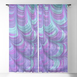 Jewel Tone Abstract Sheer Curtain