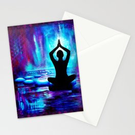 Namaste Yoga Painting Stationery Cards