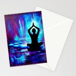 Namaste Yoga Painting Stationery Cards