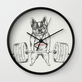 Frenchie Lift Wall Clock