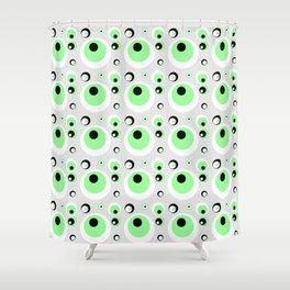 CRAZY CIRCLES - GREEN Shower Curtain