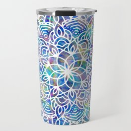 Mandala Little Mermaid Ocean Blue Travel Mug