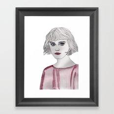 Pastel Girl 3 Framed Art Print
