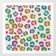 wildlife dreamcoat - leopard 1 Art Print