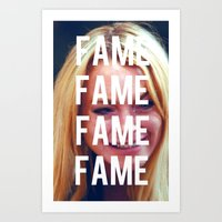 lindsay lohan Art Prints featuring FAME - LINDSAY LOHAN by Beauty Killer Art