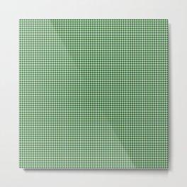 Dark Green Gingham Metal Print