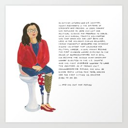 Senator Tammy Duckworth Art Print