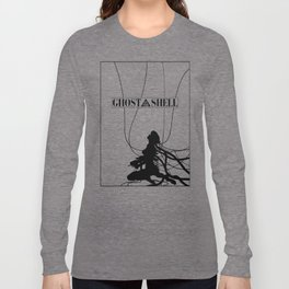 Ghost In The Shell (w/ Frame) Long Sleeve T-shirt