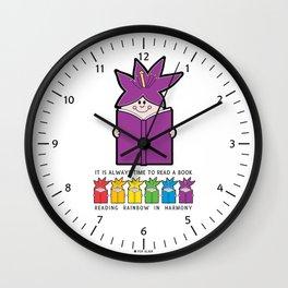 Reading Rainbow in Harmony - Purple Wall Clock