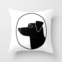 Jack Russell Terrier Cameo Throw Pillow