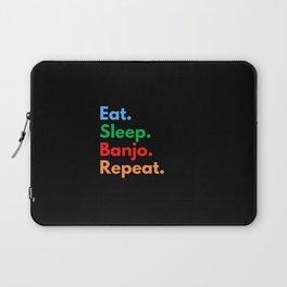 Eat. Sleep. Banjo. Repeat. Laptop Sleeve