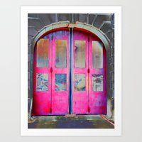 Red Doors Art Print