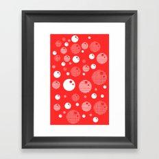 Bubblemagic - Red Framed Art Print
