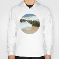 wooden Hoodies featuring Wooden Breakwater by Pati Designs
