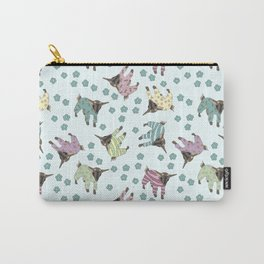 Pajama'd Baby Goats - Blue Carry-All Pouch