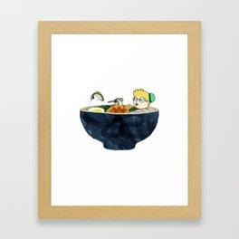 Ramen Boy Framed Art Print